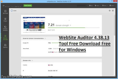 WebSite Auditor 4.38.13 Tool Free Download Free For Windows