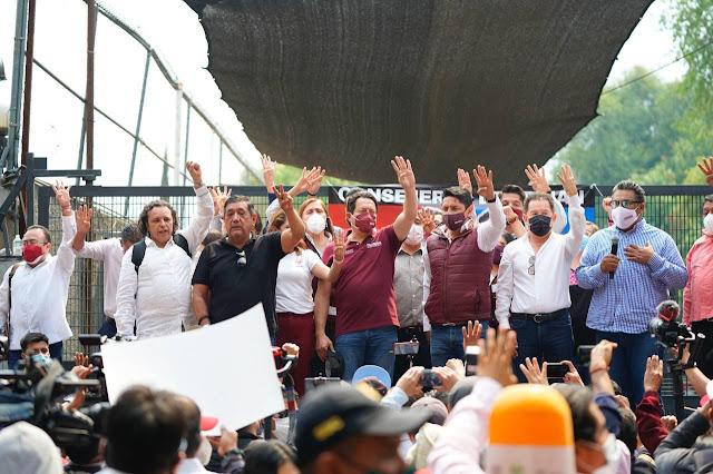 La lucha por la democracia emprendida por Morena siempre será pacifica: Mario Delgado