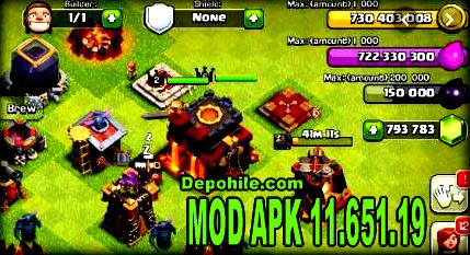 Clash of Clans v11.651.19 Dark Mod Elmas - Altın Hileli Son Sürüm