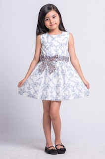 Model baju batik anak perempuan dress