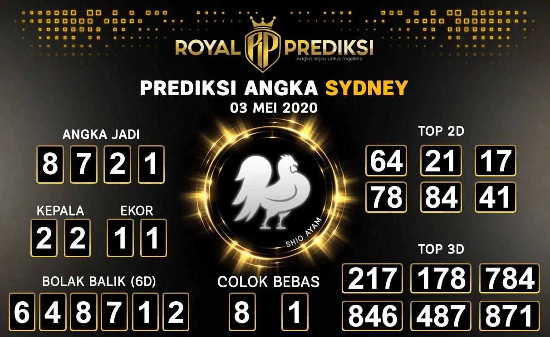 Prediksi Togel Sydney 03 Mei 2020 - Royal Prediksi Sydney