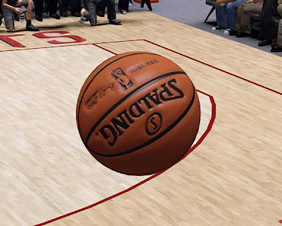 NBA 2K14 Brown Leather Spalding Ball
