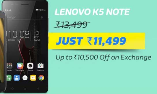 Lenovo K5 Note @ Rs.11,499/-
