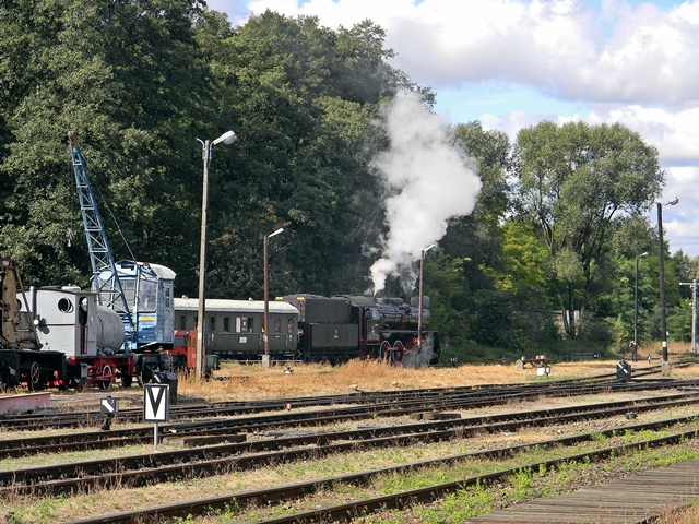 parowóz, pociąg, Wolsztyn, szyny