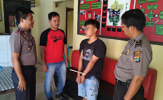 Buron 2,2 Tahun, Bandar Narkotika Ditangkap Polsek Banjar Agung