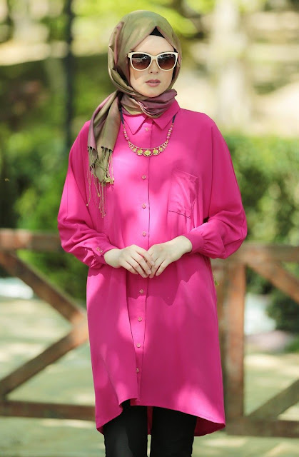tunique-hijab-rose-fashion-2015