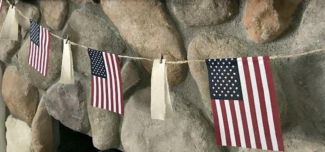 Easy to Make American Flag Garland