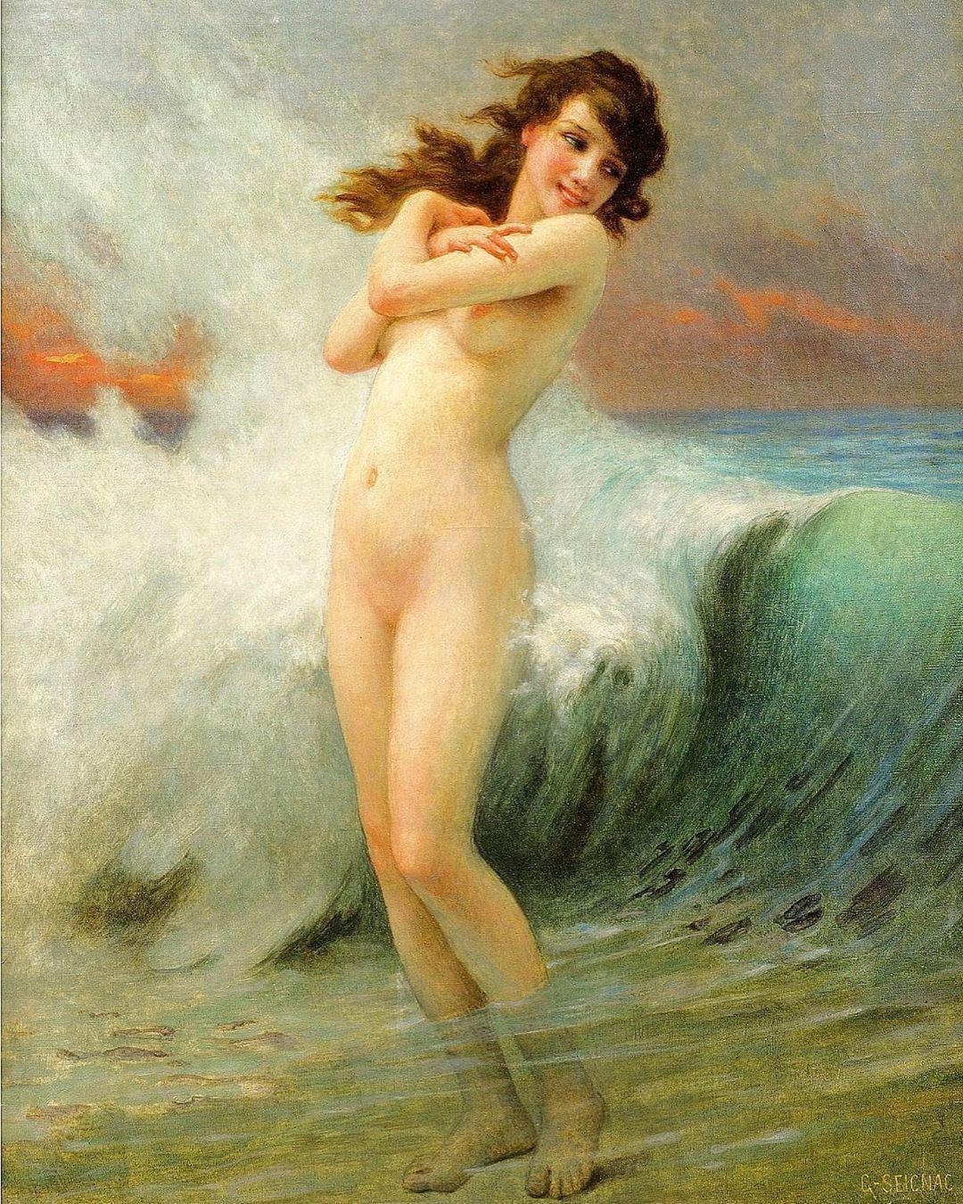 Nude painting nude woman paintingvalentines gift original