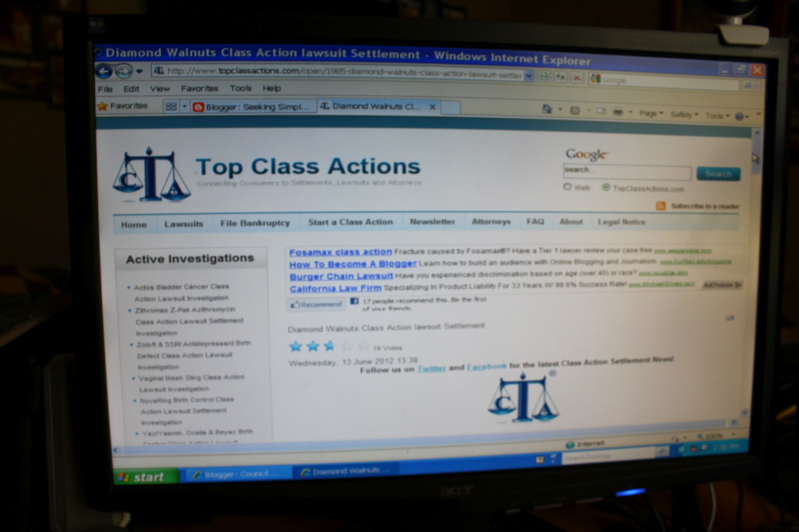class action lawsuits to join