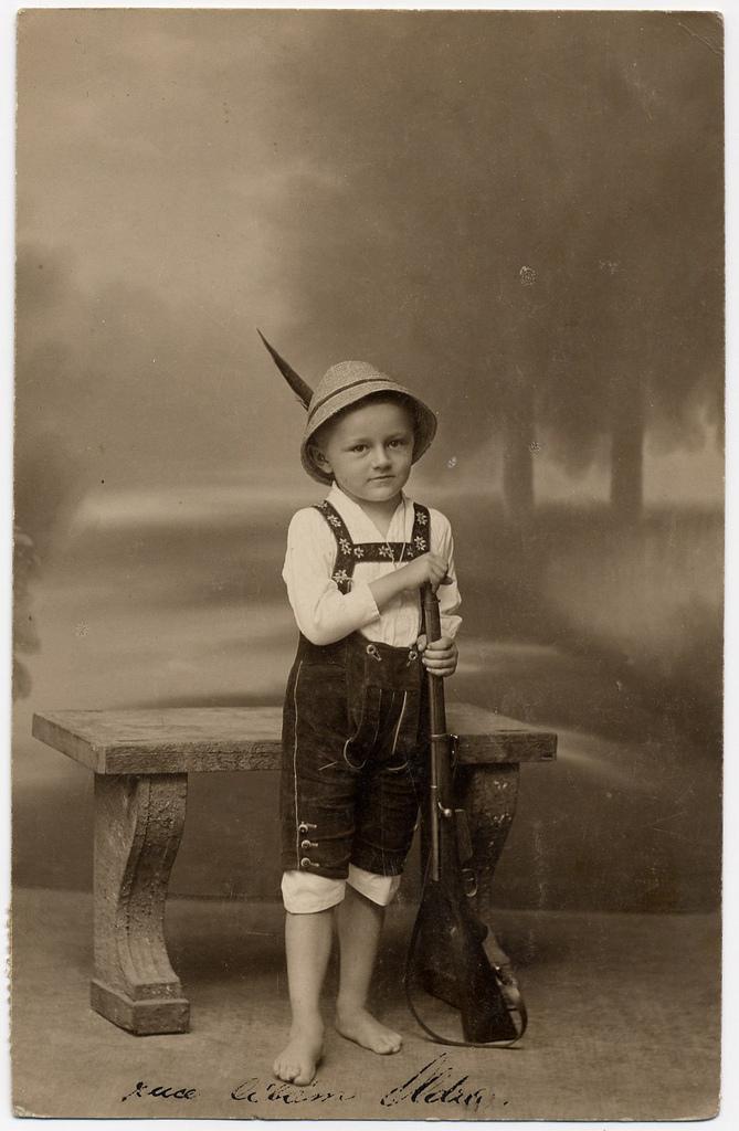 Vintage Photos Of Children With Guns Vintage Everyday