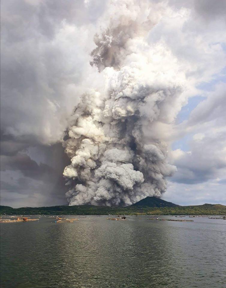 Taal Volcano Eruption