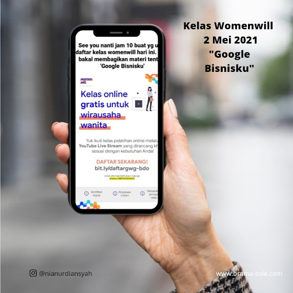 kelas online Womenwill Google Bisnisku