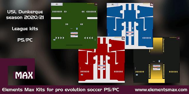 USL Dunkerque PES Kits