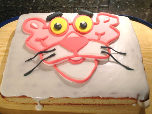 pink panther birthday cake
