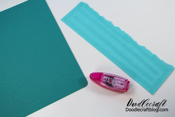 Use the Tombow Power Mini to adhere the paper to the base.
