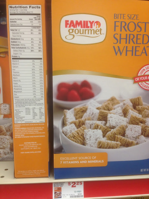 Frosted Shredded Wheat, Family Gourmet - Family Dollar