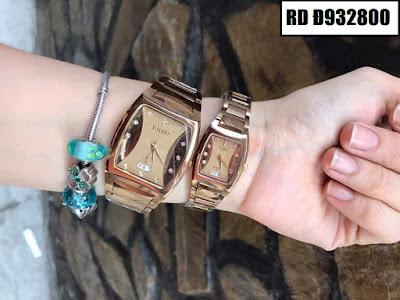 Đồng hồ cặp đôi Rado mặt vuông RD Đ932800
