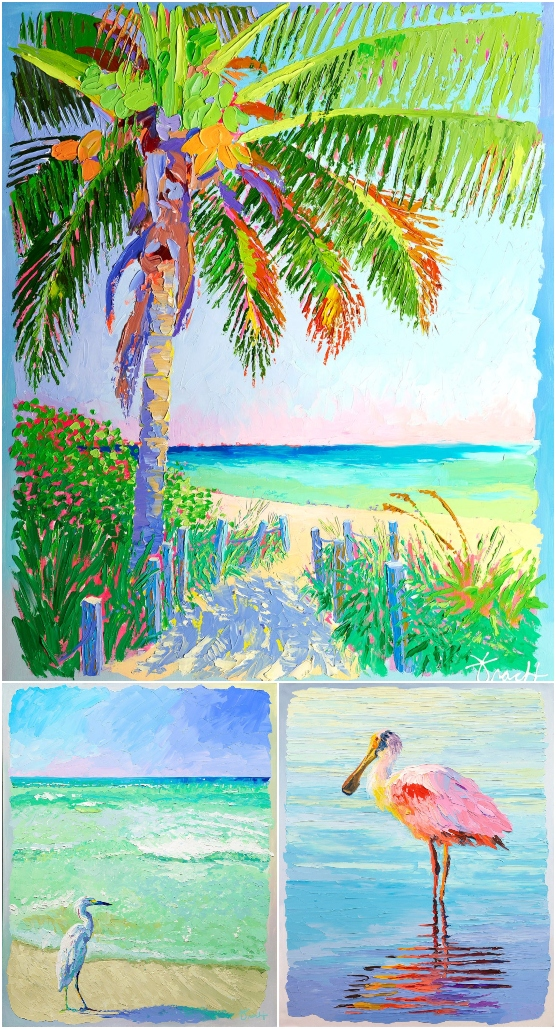 Colorful Florida Beach Nature Paintings