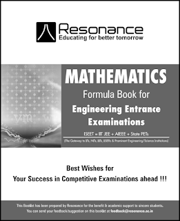 Mathmetics Resonance Formula Booklet Free PDF Download For JEE Main Pcm neet books wallah