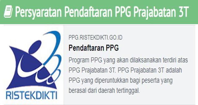 Persyaratan Pendaftaran PPG Prajabatan 3T di Perpanjang