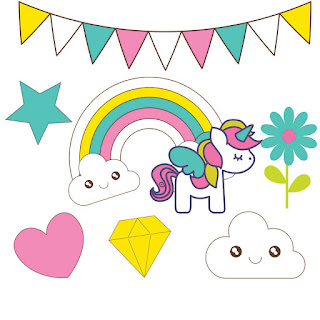Unicorns Clip Art for Scrapbooking.