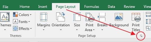 Mengaktifkan Kotak Dialog Page Setup