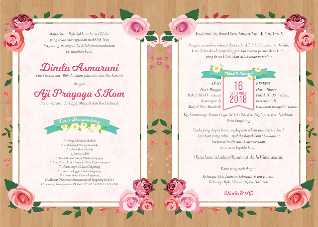 Undangan Pernikahan Murah Tema Kayu di Tangerang - Walimahanid | 0812-1141-8687