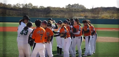 Ewha Play Girls scramble! Korea Women 's Baseball Championship.