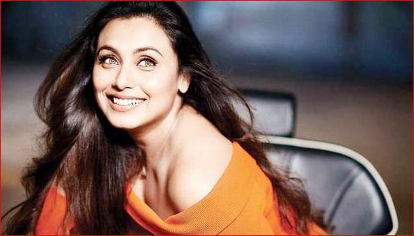 Film actress Rani Mukherjee poses for photographers