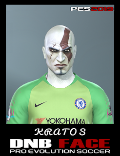 PES 2019 Faces Kratos ( God of War ) by DNB