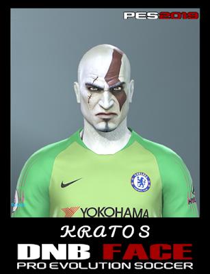 PES 2019 Faces Kratos ( God of War ) by DNB