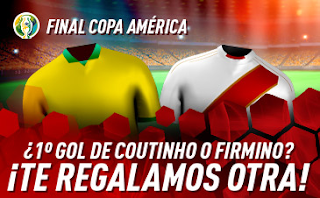 sportium promo copa america Brasil vs Peru 7 julio 2019
