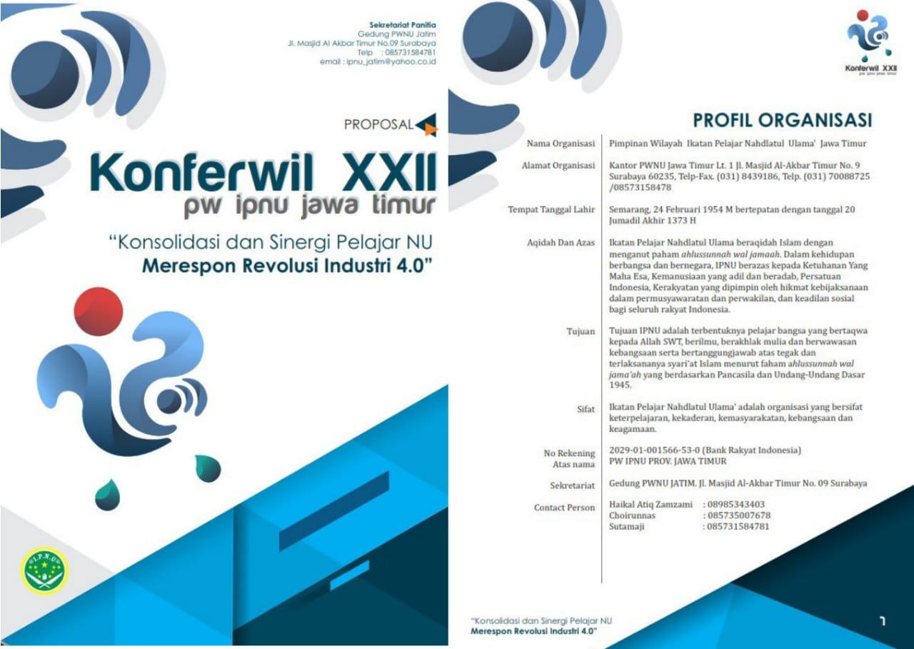 Cover Proposal Konferwil IPNU Jatim 2018