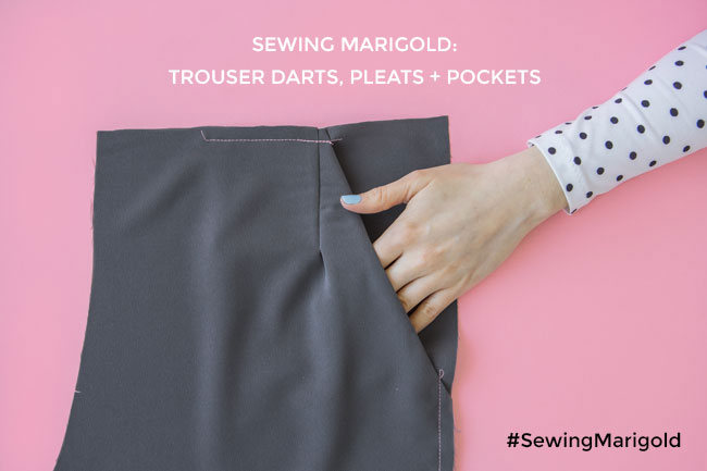 Sewing the Marigold Jumpsuit: Trouser Darts, Pleats and Pockets