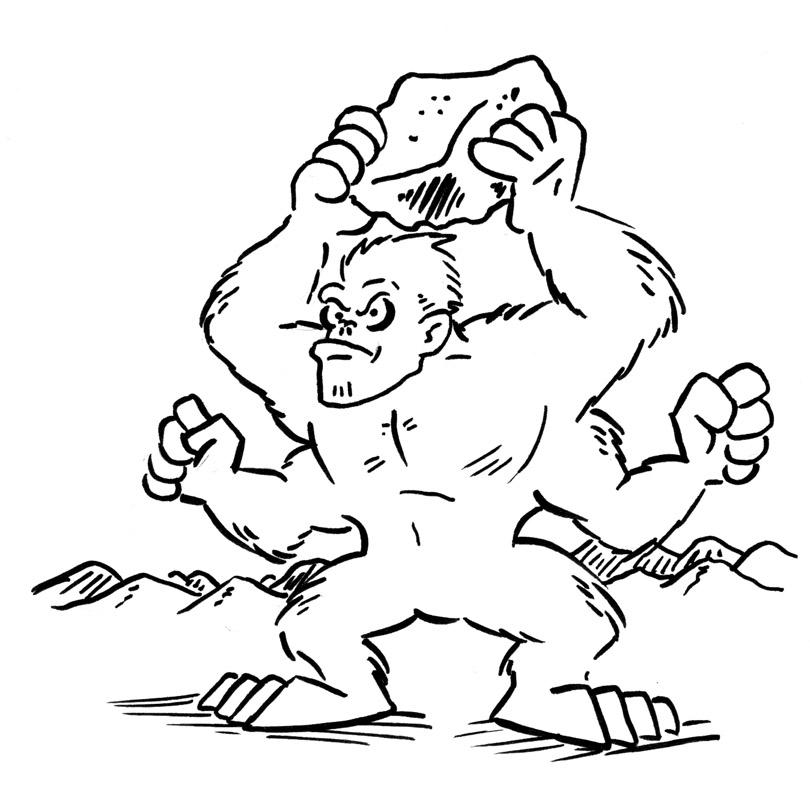Bernie the Flumph: Girallon [5th Edition D&D Monster]