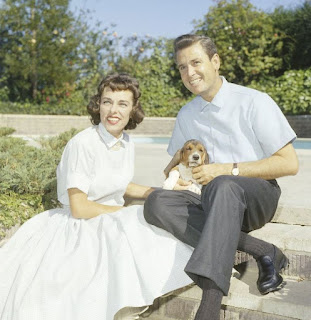 Picture of Dorothy Jo Gideon with her husband Bob Barker & dog
