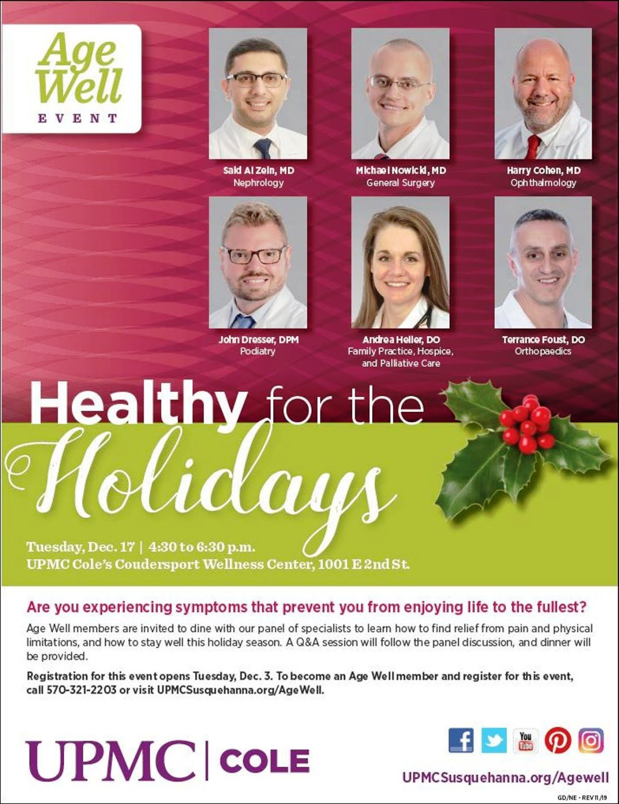 UPMC Cole Healthy Holidays
