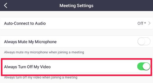 Mengatur Kamera Zoom Untuk Tidak Aktif Secara Otomatis