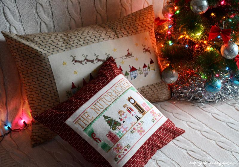 Щелкунчик, The Nutcracker, CCN, En retard, Madame Chantilly, вышивка, вышивка крестом, подушка, новогодняя подушка, вышивка щелкунчик