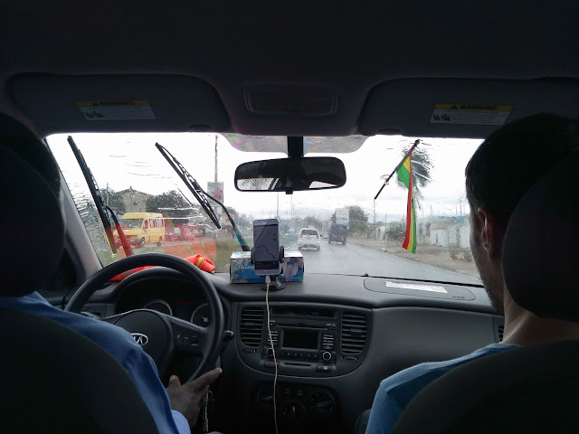 Driving around Accra, Ghana