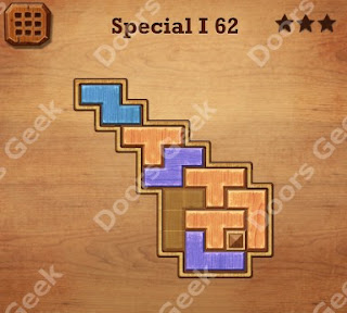 Cheats, Solutions, Walkthrough for Wood Block Puzzle Special I Level 62