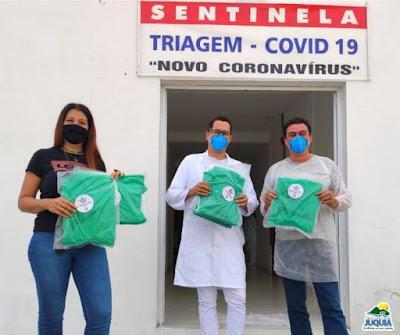 FUNDO SOCIAL ENTREGA EQUIPAMENTO DE PROTEÇÃO AOS SENTINELAS DO PRONTO SOCORRO