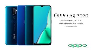 Oppo A9 2020 Rilis, Nih Spesifikasi dan harga oppo A9