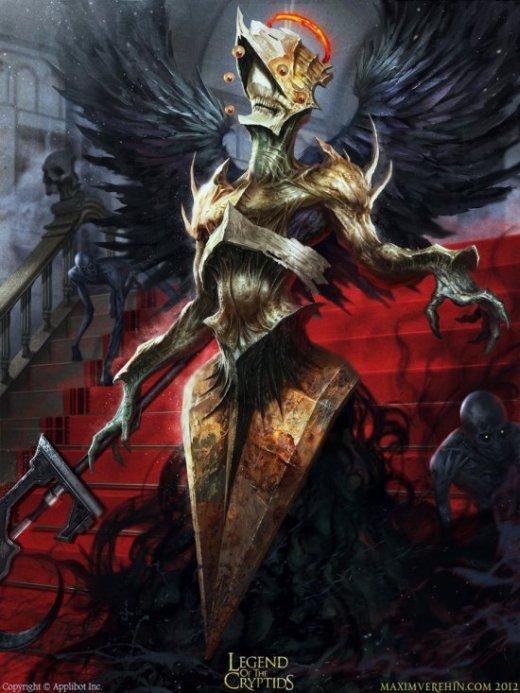 Maxim Verehin ilustrações sombrias fantasia terror games arte