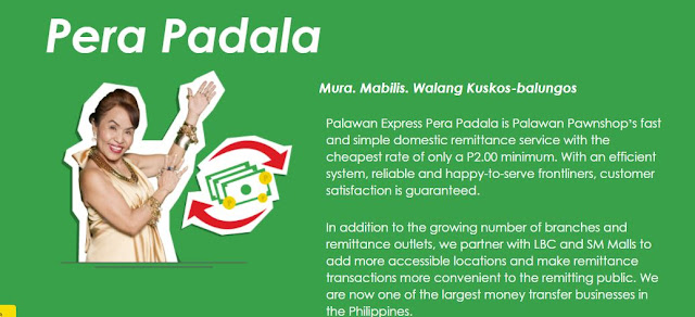 List of Palawan Pawnshop Palawan Express Pera Paadala Services
