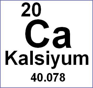 kalsiyum kimyasal formülü