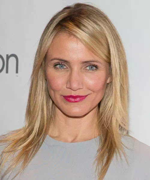Cameron Diaz Blonde Straight Hair