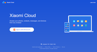 login mi cloud dengan email