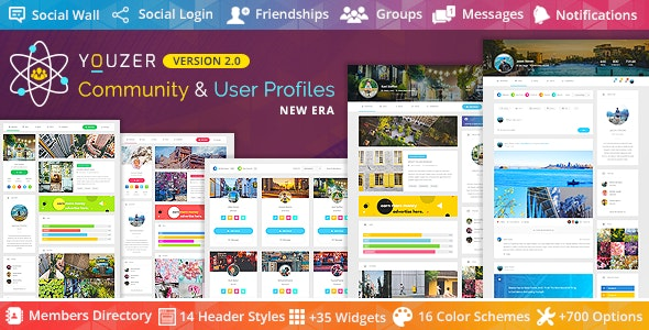 Youzer Plugin–Buddypress Community & WordPress User Profile Plugin + Add-Ons