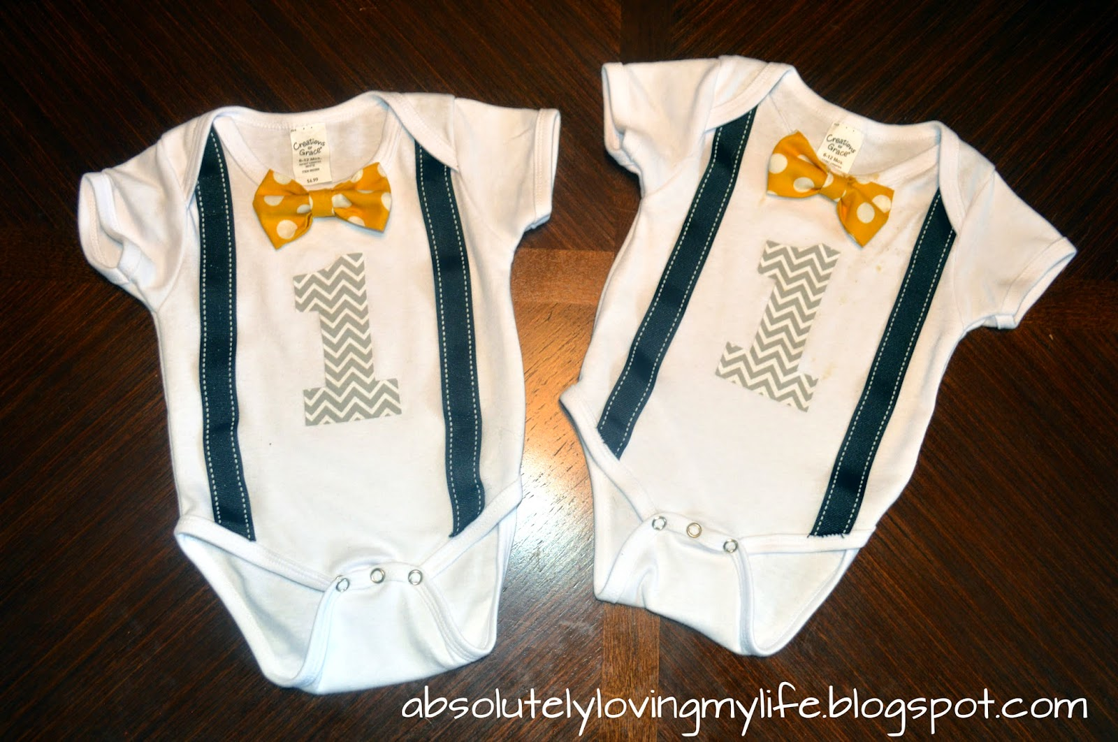 Loving Life No Sew Diy First Birthday Onesies Bow Tie